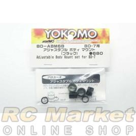 YOKOMO Adjustable Body Mount Set 6mm Black