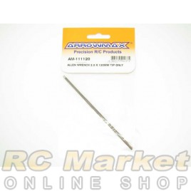 ARROWMAX 111120 Allen Wrench 2.0 X 120mm Tip Only