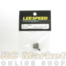 LEESPEED TP-84034 84 Pitch Titanium Pinion (34T)