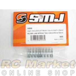 SMJ SMJ1002 Silver Line Spring TS3.0 (Short/Silver/2pcs)
