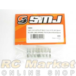 SMJ SMJ1004 Silver Line Spring TS3.5 (Short/Gold/2pcs)