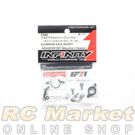 INFINITY F065 IF11 Alu Axle Height Adjuster Set (Black/Incl.Washer)