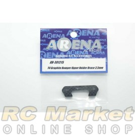 ARENA 301215 T4 Graphite Bumper Upper Holder Brace 3.5mm