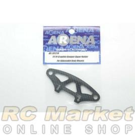 ARENA 301210 T4'19 Graphite Bumper Upper Holder For Adjustable Body Mounts