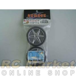 ACTIVE STRSPK4GU Spark 4 Drift Tires With 6-Spoke Wheels 26mm (Gun Metal)