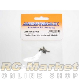ARROWMAX 15CS3006 Titanium Screw Allen Countersunk M3X6 (5)