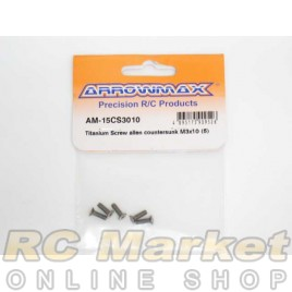 ARROWMAX 15CS3010 Titanium Screw Allen Countersunk M3X10 (5)