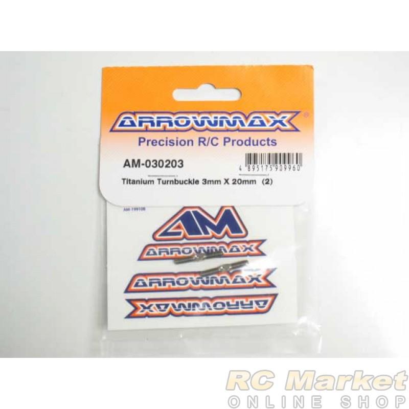 ARROWMAX 030203 Titanium Turnbuckle 3MM X 20MM (2)