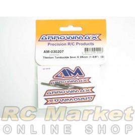 """ARROWMAX 030207 Titanium Turnbuckle 3MM X 35MM (1-3/8"""") (2)"""