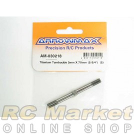 "ARROWMAX 030218 Titanium Turnbuckle 3MM X 70MM (2-3/4"") (2)"