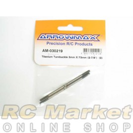 "ARROWMAX 030219 Titanium Turnbuckle 3MM X 73MM (2-7/8"") (2)"
