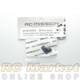 RC MISSION Antenna Mount for Sanwa RX-491 (Black)