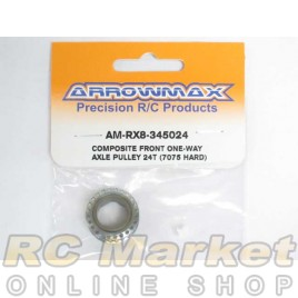 ARROWMAX RX8-345024 Front One-Way Axle Pulley 24T (7075 Hard)