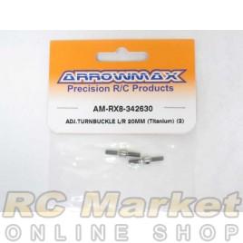 ARROWMAX RX8-342630 Adj. Turnbuckle L/R 20mm (Titanium) (2)