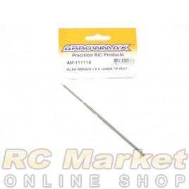 ARROWMAX 111115 Allen Wrench 1.5 X 120MM Tip Only