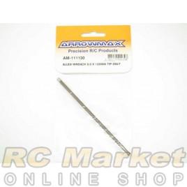 ARROWMAX 111130 Allen Wrench 3.0 X 120MM Tip Only