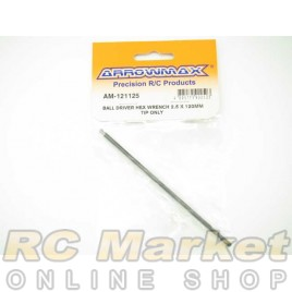 ARROWMAX 121125 Ball Driver Hex Wrench 2.5 X 120MM Tip Only