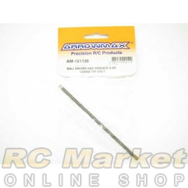ARROWMAX 121130 Ball Driver Hex Wrench 3.0 X 120MM Tip Only