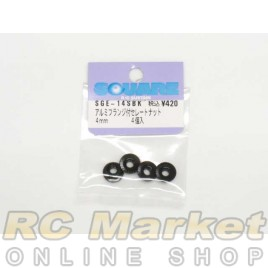 SQUARE SGE-14SBK 4mm Lock Nut Serrated Black