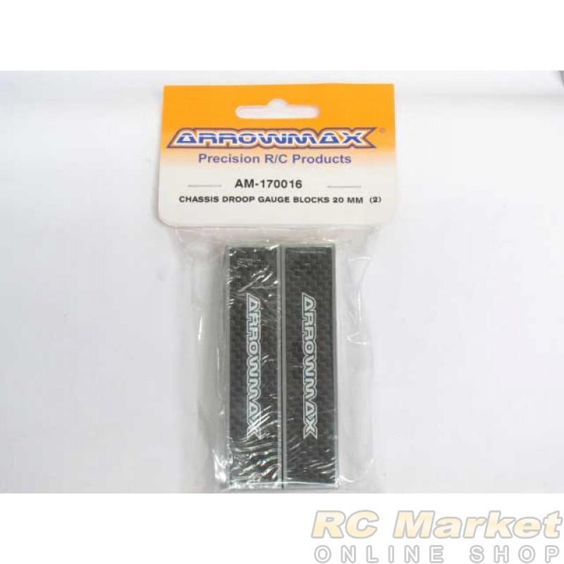 ARROWMAX 170016 Chassis Droop Gauge Blocks 20 MM (2)