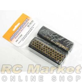 ARROWMAX 171056 Chassis Droop Gauge Support Blocks 30mm 1/8 Off-Road Black Golden (2)