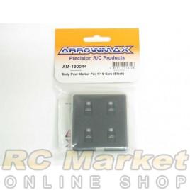ARROWMAX 190044 Body Post Marker For 1/10 Cars (Black)