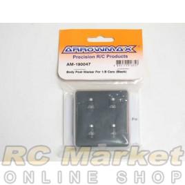 ARROWMAX 190047 Body Post Marker For 1/8 Cars (Black)