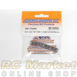 ARROWMAX 170048 4MM Alu Nut For 1/10 Set-Up System (4)