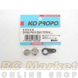 KO PROPO 36026 Carbon Servo Horn 16.5mm