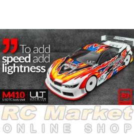 BITTYDESIGN M410 1/10 TC 190mm Clear Body Ultra Lite Weight EFRA 4054