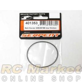 SERPENT 401353 Belt Kevlar 30S3M186 Low Friction