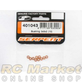 SERPENT 401043 Bushing 3x5x2 Orange (10)