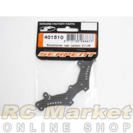 SERPENT 401510 Shocktower Rear Carbon 411-FF
