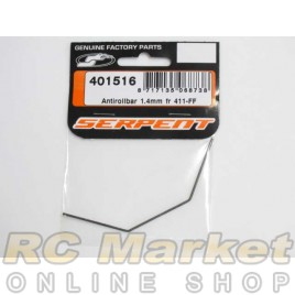 SERPENT 401516 Antirollbar 1.4mm FR 411-FF