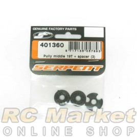 SERPENT 401360 Pully Middle 19T + Spacer (3)