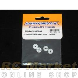 ARROWMAX T4-308037A1 Composite Pistons 4 Hole 1.1mm (4)