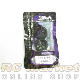 ARROWMAX 040613 1/12 Foam Tyre Rim Front 32 Shore Carbon (2) Italy