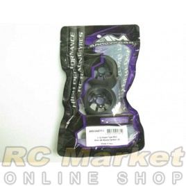 ARROWMAX 040711 1/12 Foam Tyre Rim Rear 25 Shore Carbon (2) Italy