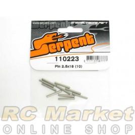 SERPENT 110223 Pin 2.5x18 (10)