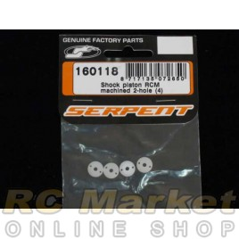 SERPENT 160118 Shock Piston RCM Machined 2-Hole (4)