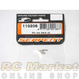 SERPENT 110208 Pin Nra 2x9.8 (4)