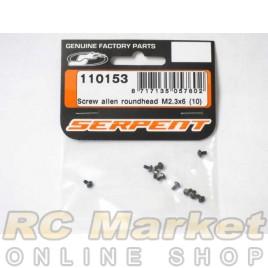 SERPENT 110153 Screw Allen Roundhead M2.3x6 (10)