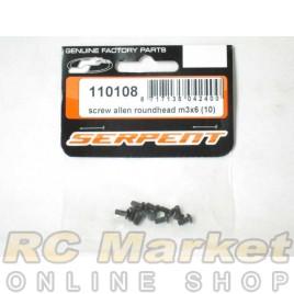 SERPENT 110108 Screw Allen Rroundhead m3x6 (10)