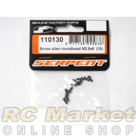 SERPENT 110130 Screw Allen Roundhead m2.5x6 (10)