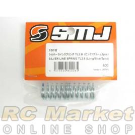 SMJ SMJ1012 Silver Line Spring TL2.8 (Long/Blue/2 pcs.)