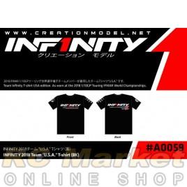 """INFINITY A0059-L 2018 Team """"U.S.A."""" T-shirt (BK) L size"""