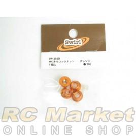 SWIRL SW-202O M4 Lock Nut Orange 4pcs