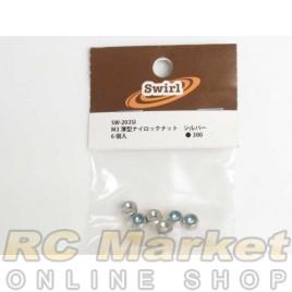 SWIRL SW-203SI M3 Thin Nylon Nut Silver 6pcs