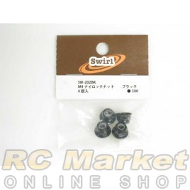 SWIRL SW-202BK M4 Lock Nut Black 4pcs
