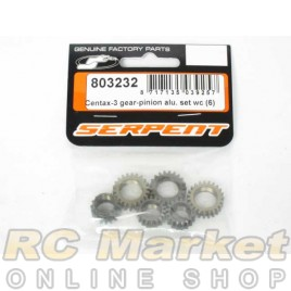 SERPENT 803232 Centax-3 WC Gear Set Alu (6)